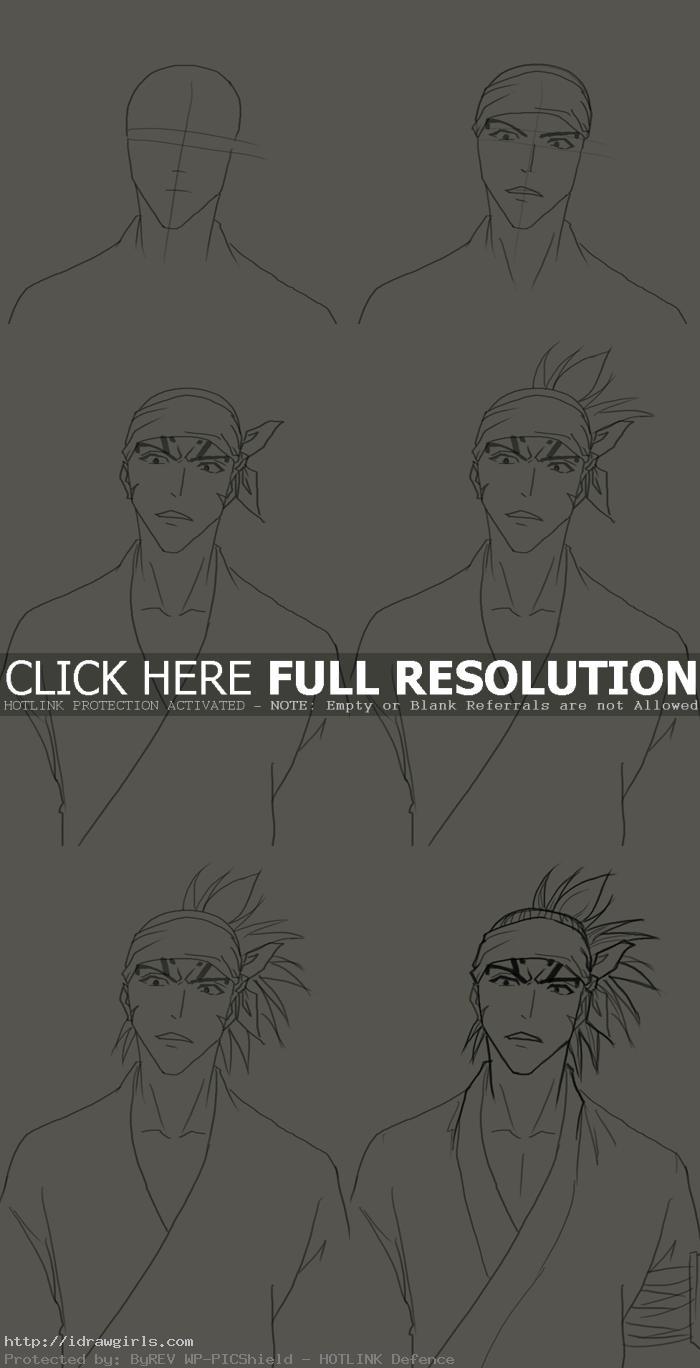 how to draw Renji Abarai