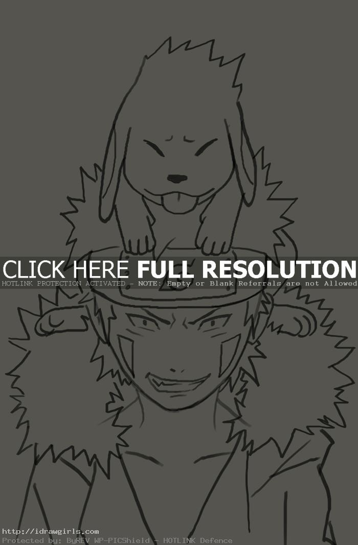 How to draw Inuzuka Kiba