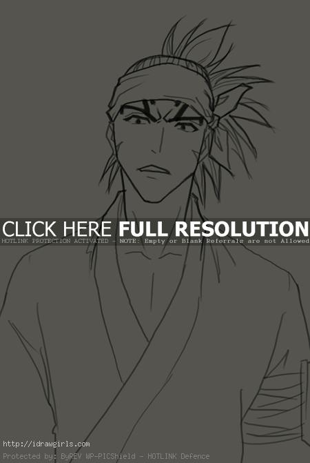 How to draw Renji Abarai