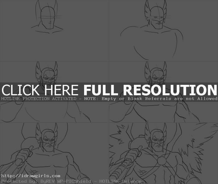 How to draw Hawkman