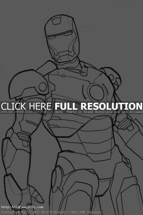 How to draw Iron Man Mk 3