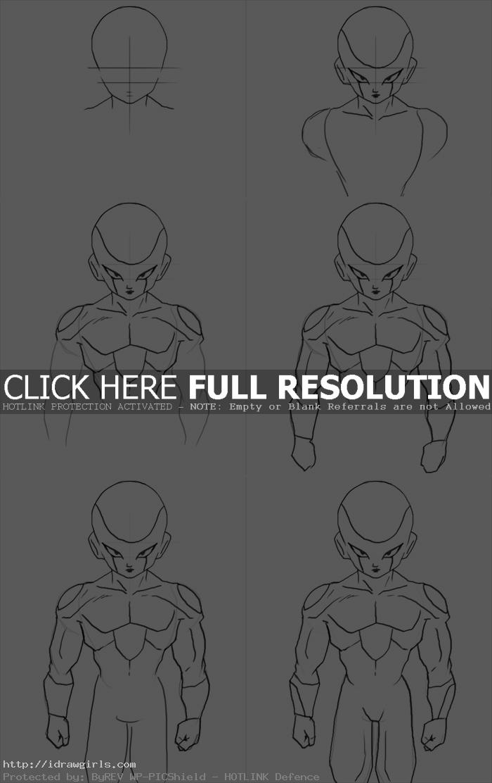 How to draw Frieza form three