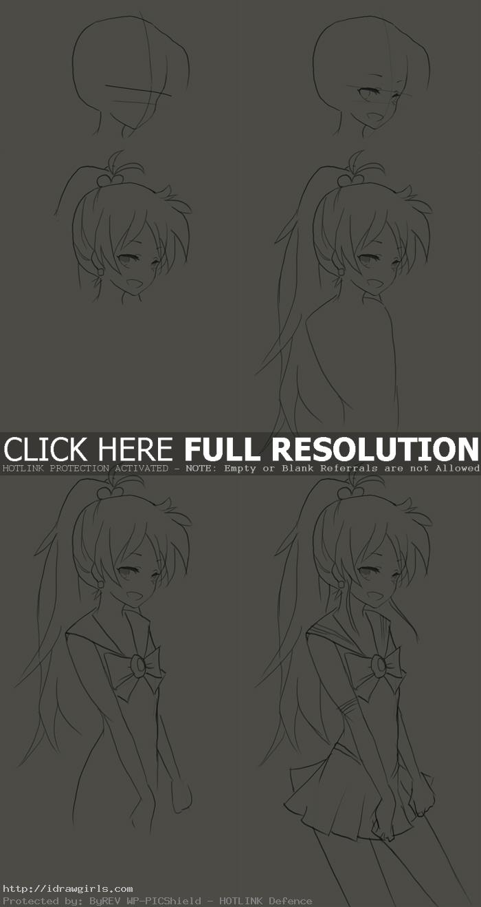 how to draw Sailor Jupiter Makoto Kino