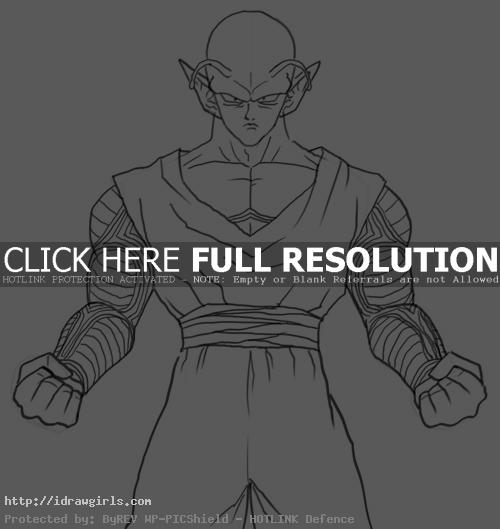 How to draw Piccolo