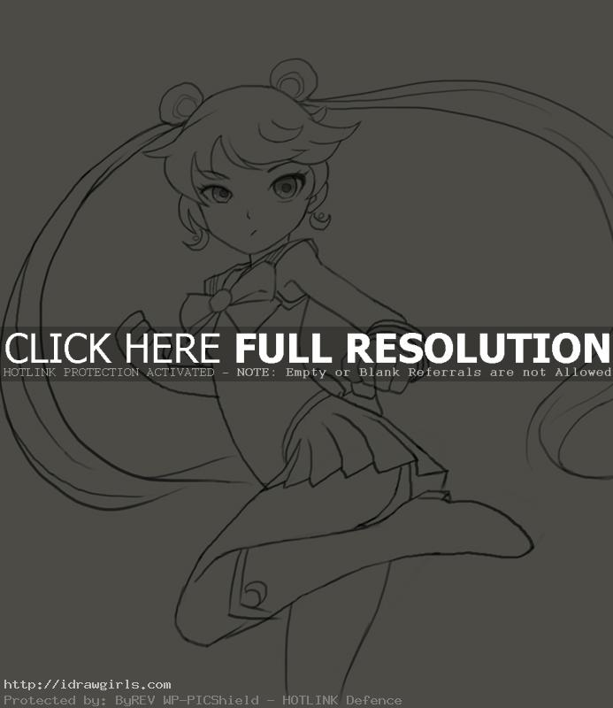 Sailor Moon Usagi Tsukino drawing