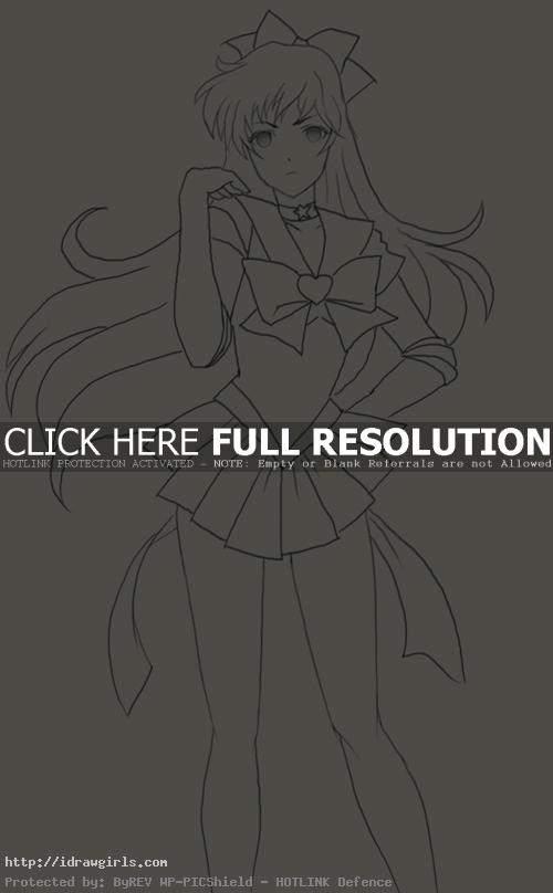 How to draw Sailor Venus