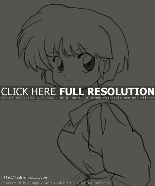 How to draw Akane Tendo