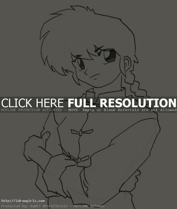 How to draw Ranma