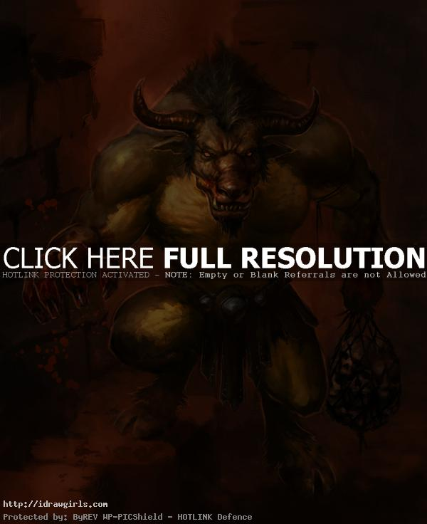 Creature concept art tutorial, Minotaur