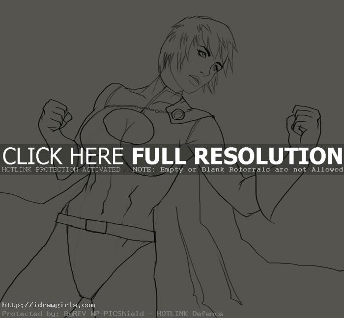 How to draw Power Girl