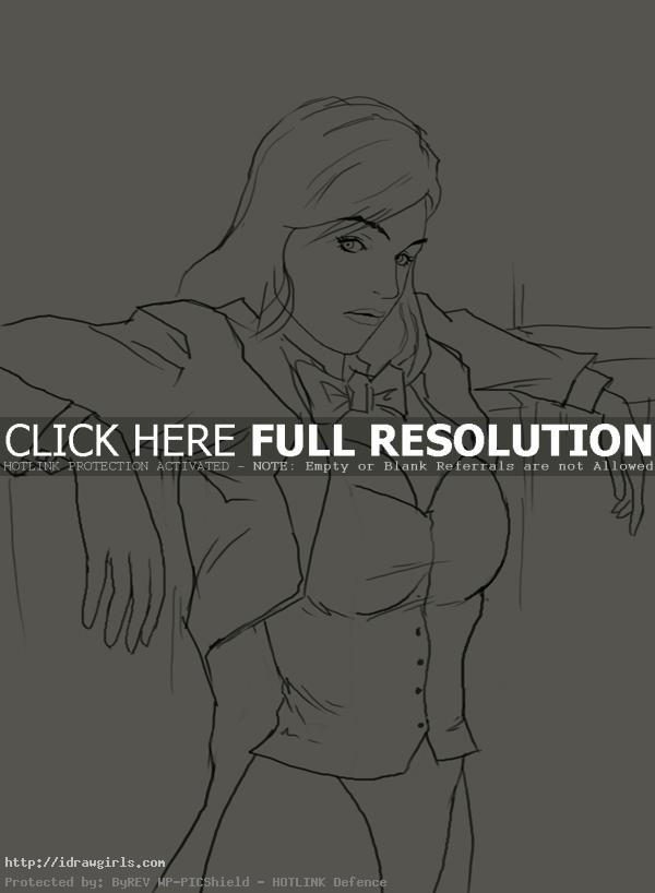 How to draw Zatanna