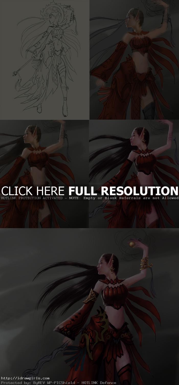 how to draw elf wizard