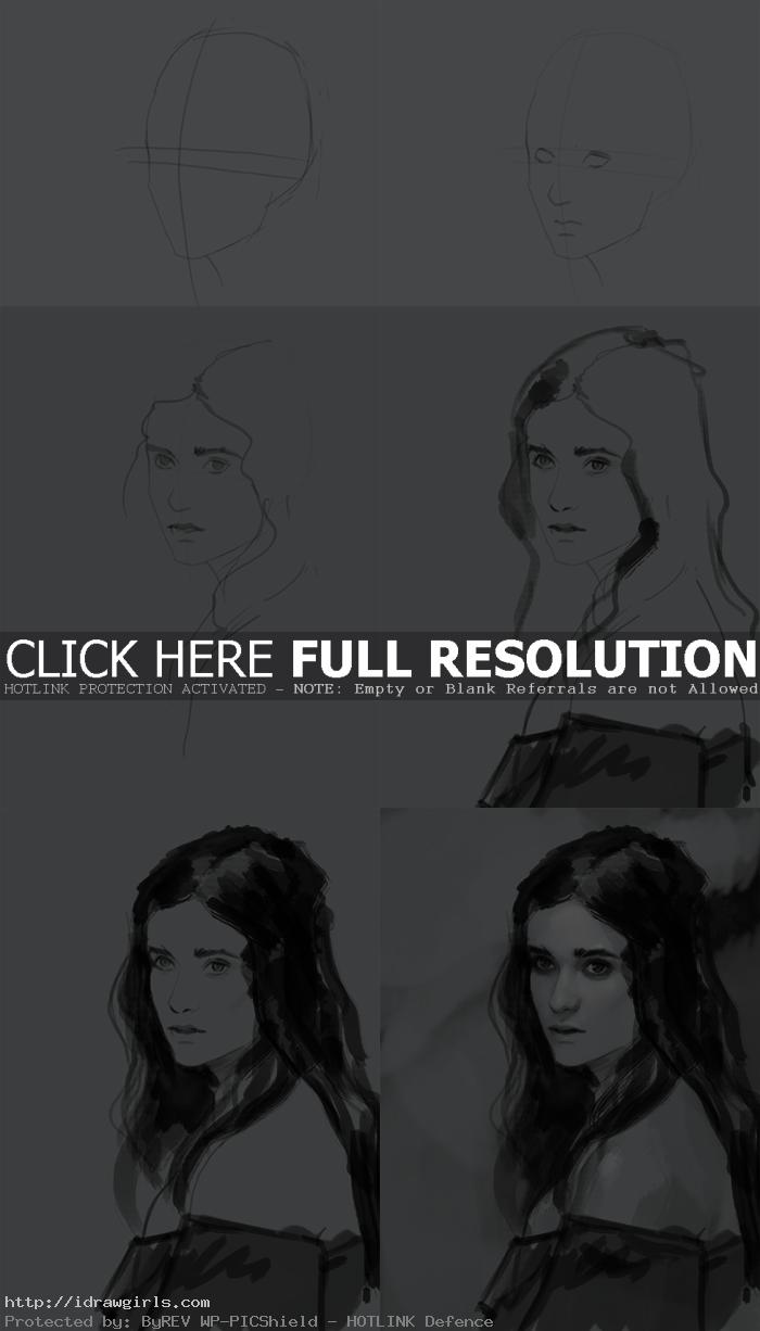 how to draw Lena Duchannes