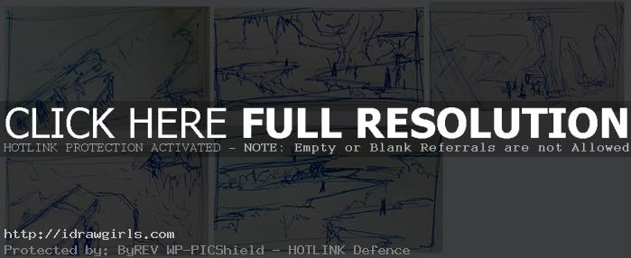 Shattered plains thumbnails concept sketches