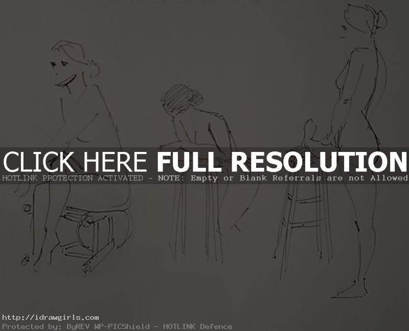 Gesture drawing with ballpoint pen