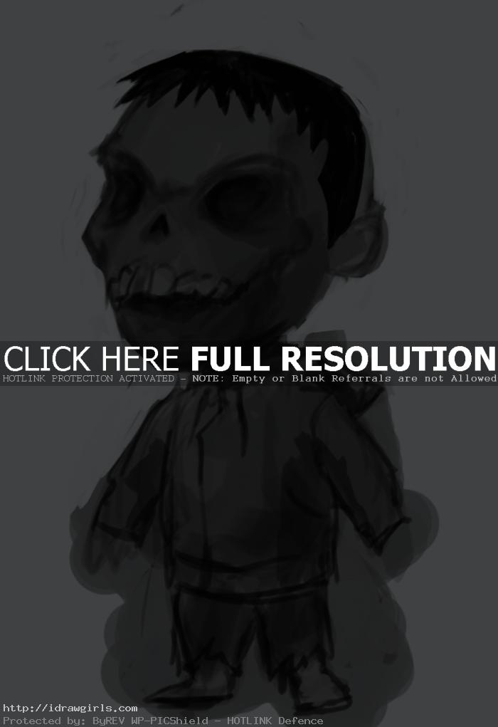 kid zombie drawing