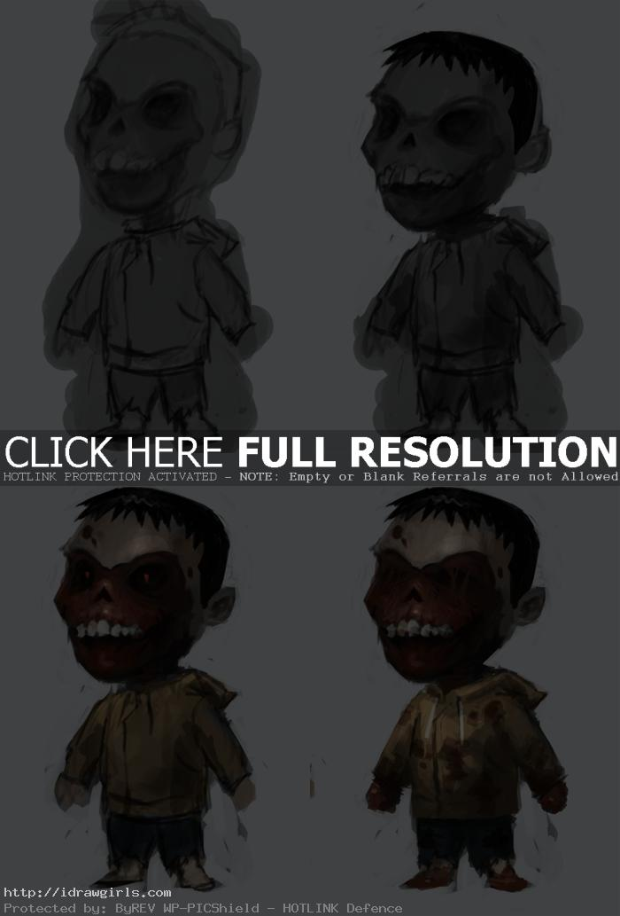 painting kid zombie tutorial