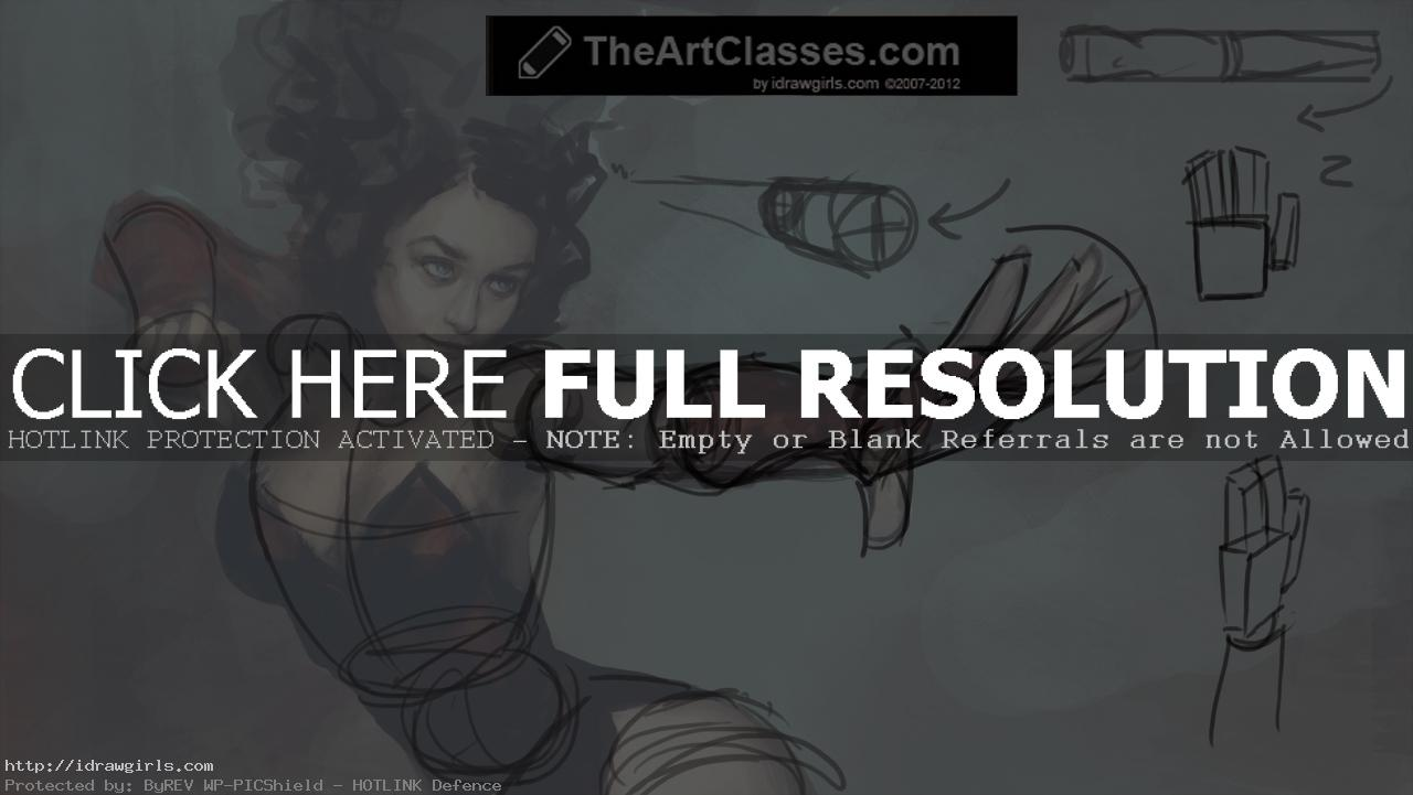 How to draw foreshortening figure in perspective