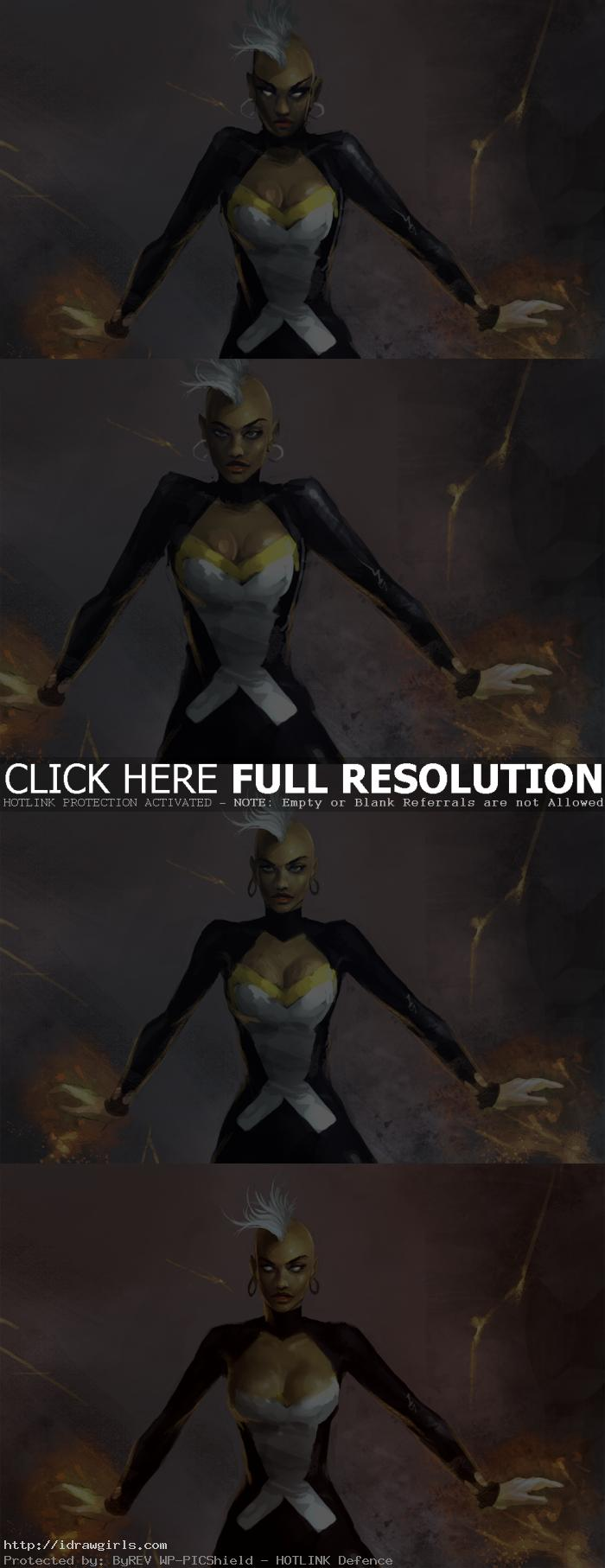 digital painting tutorial Storm X-men