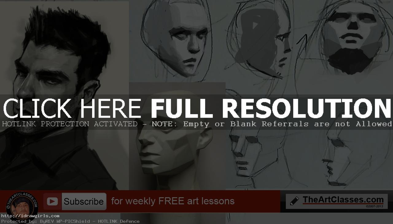 drawing planes of face