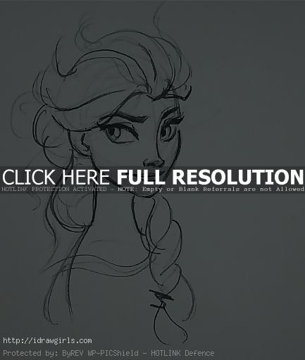 Elsa drawing tutorial
