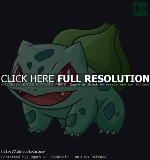How to draw Bulbasaur