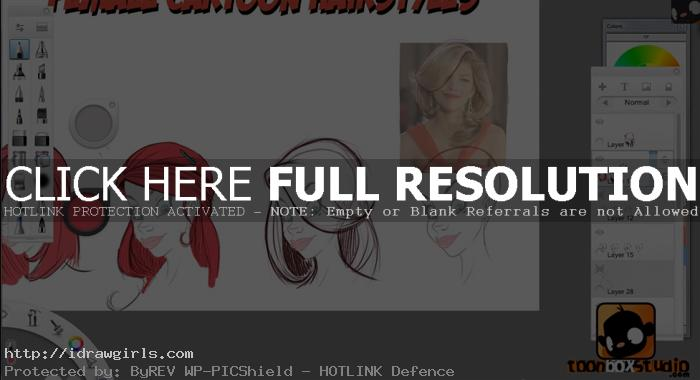 how to draw cartoon hair