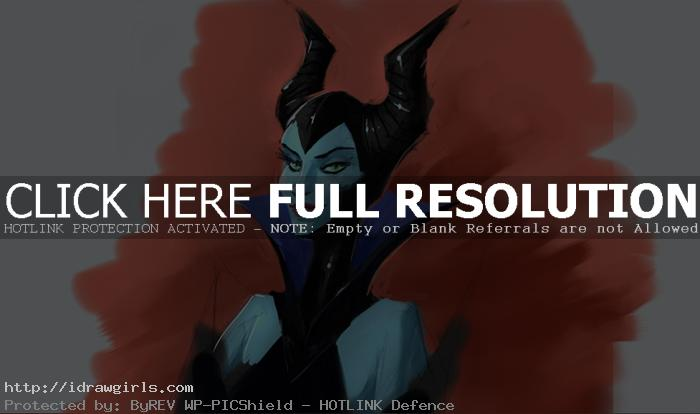 Maleficent painting tutorial part 2 using Sketchbook Pro 6