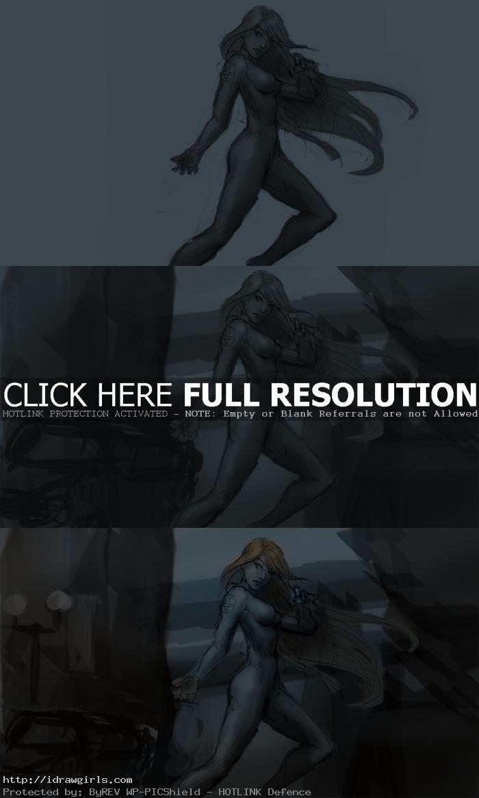 digital painting tutorial Susan Storm step 2