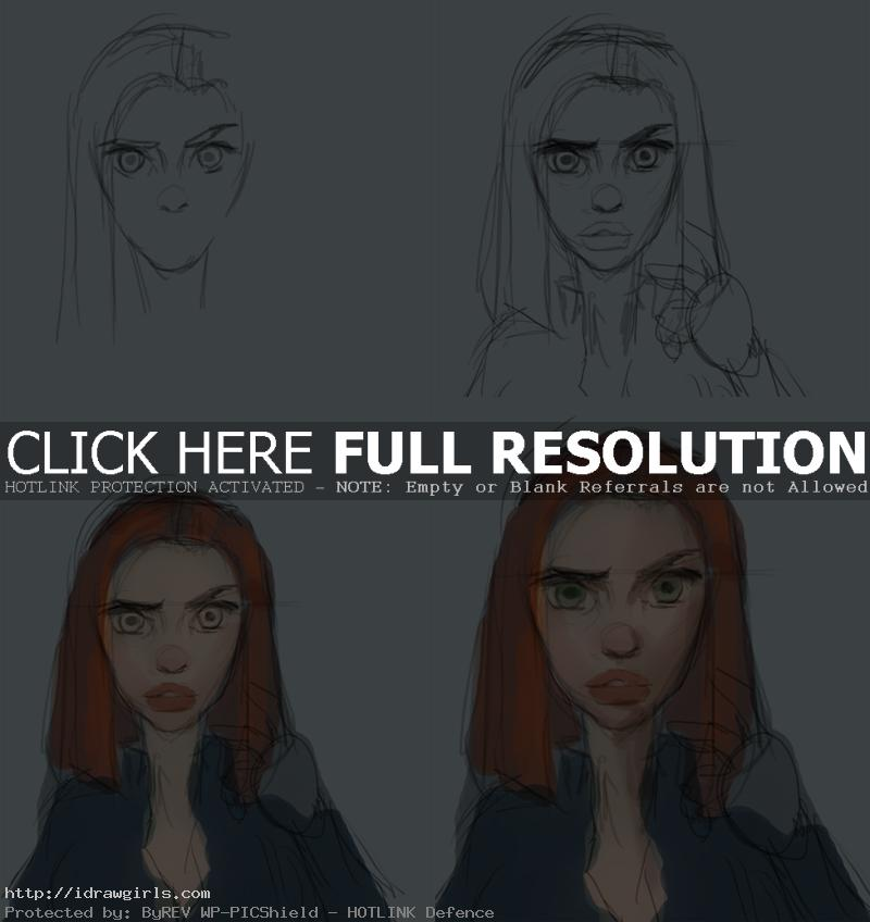 how to draw Black Widow