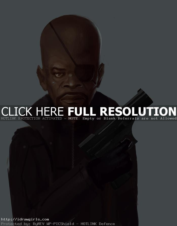 How to draw Nick Fury