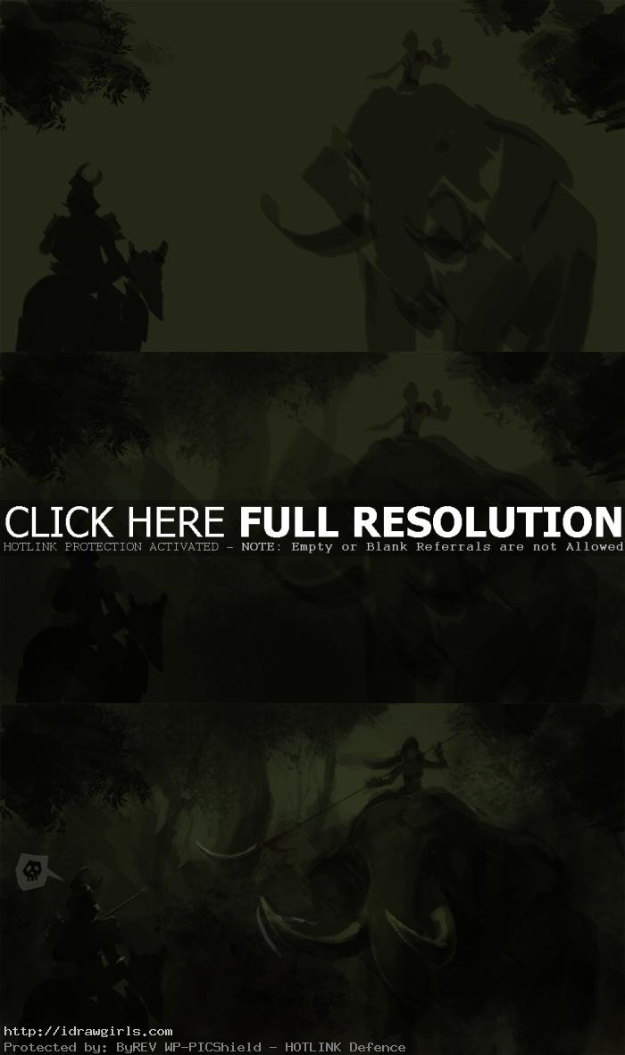digital painting tutorial elephant rider part1