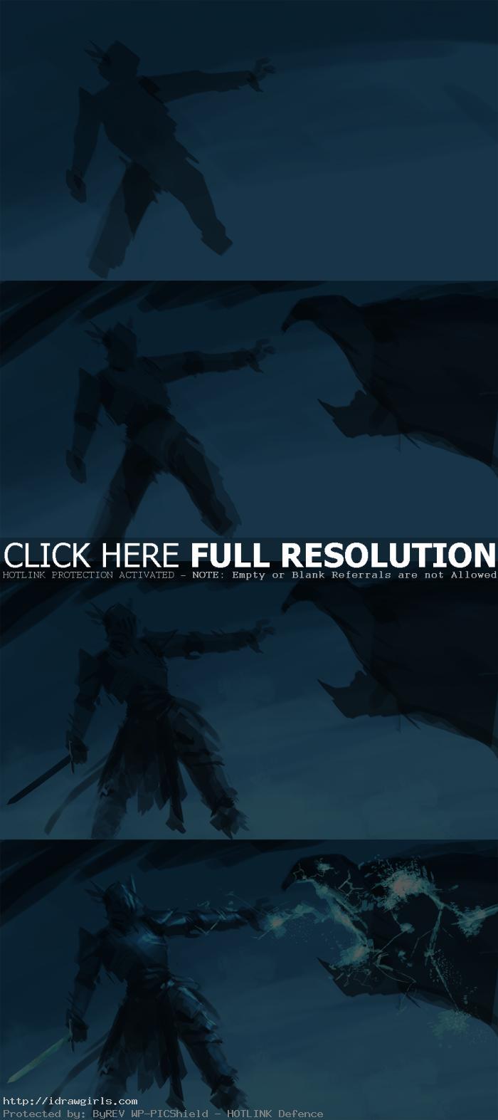 digital painting tutorial lighting knight