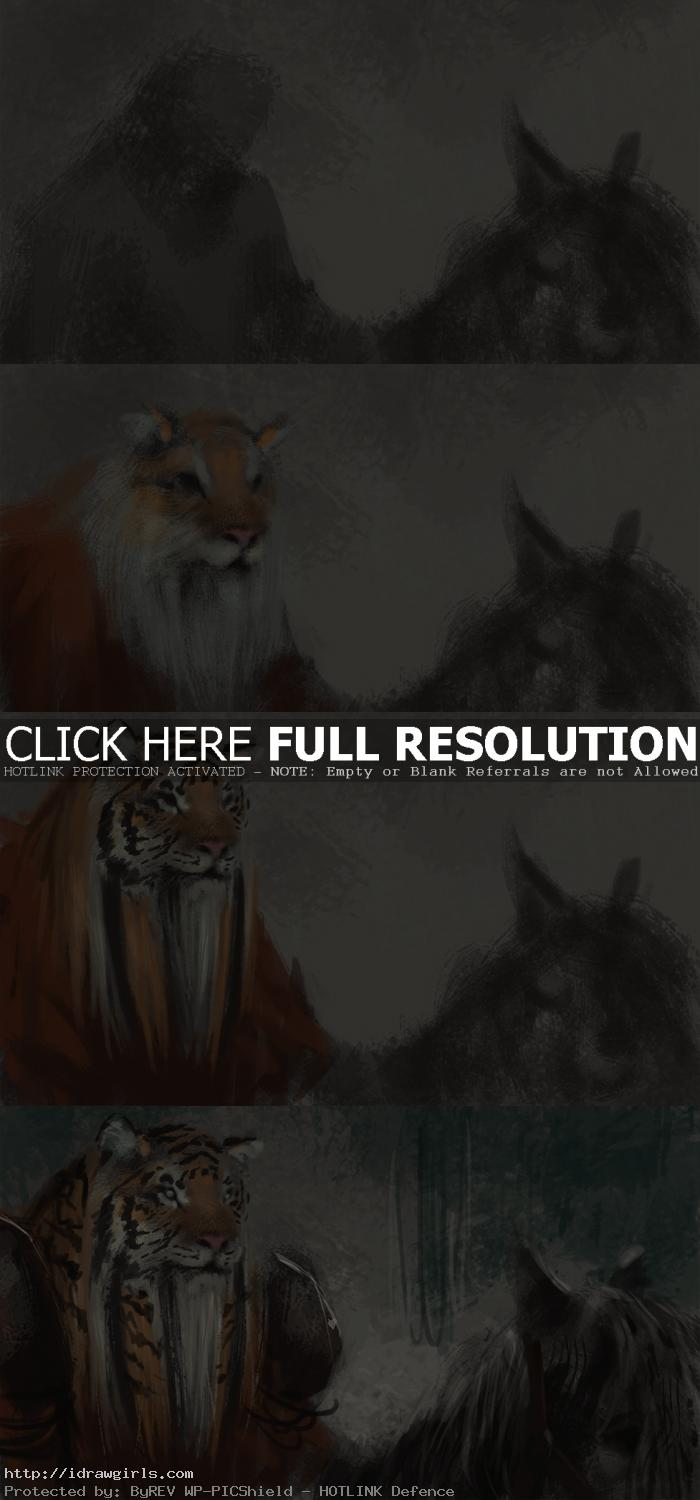 creature design tutorial tiger warrior