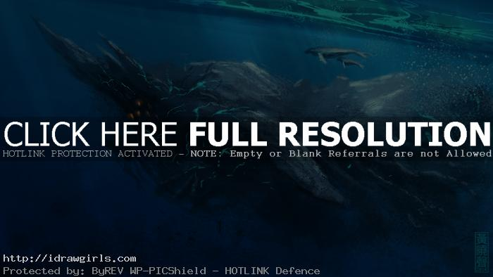 kaiju-swimming-concept-art