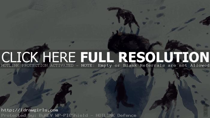 bison hunt speed painting tutorial