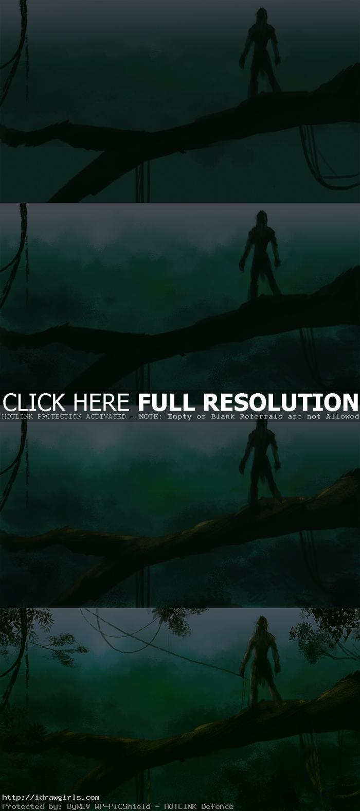 digital painting tutorial tarzan jungle