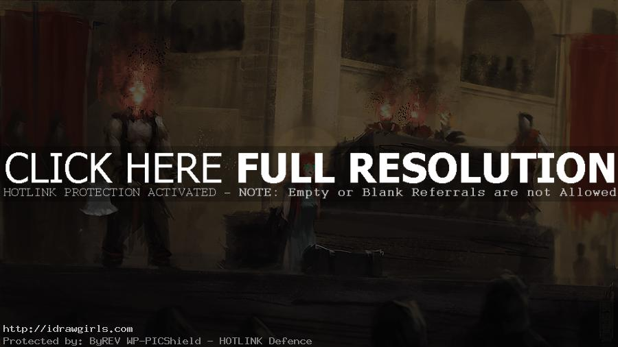 Concept art tutorial witch trial speedpainting