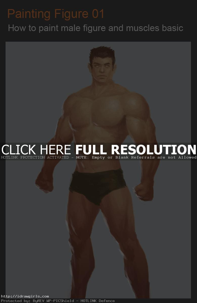 Painting man figure and muscles video tutorial update 2015