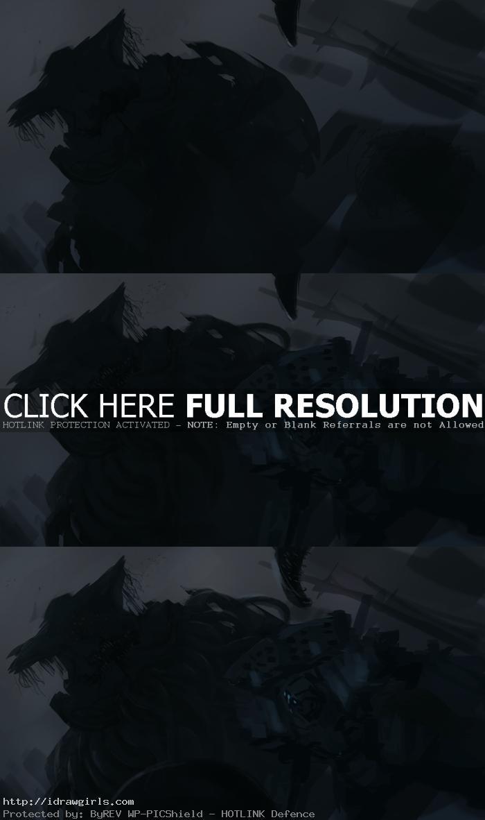 digital painting tutorial tentacles kaiju