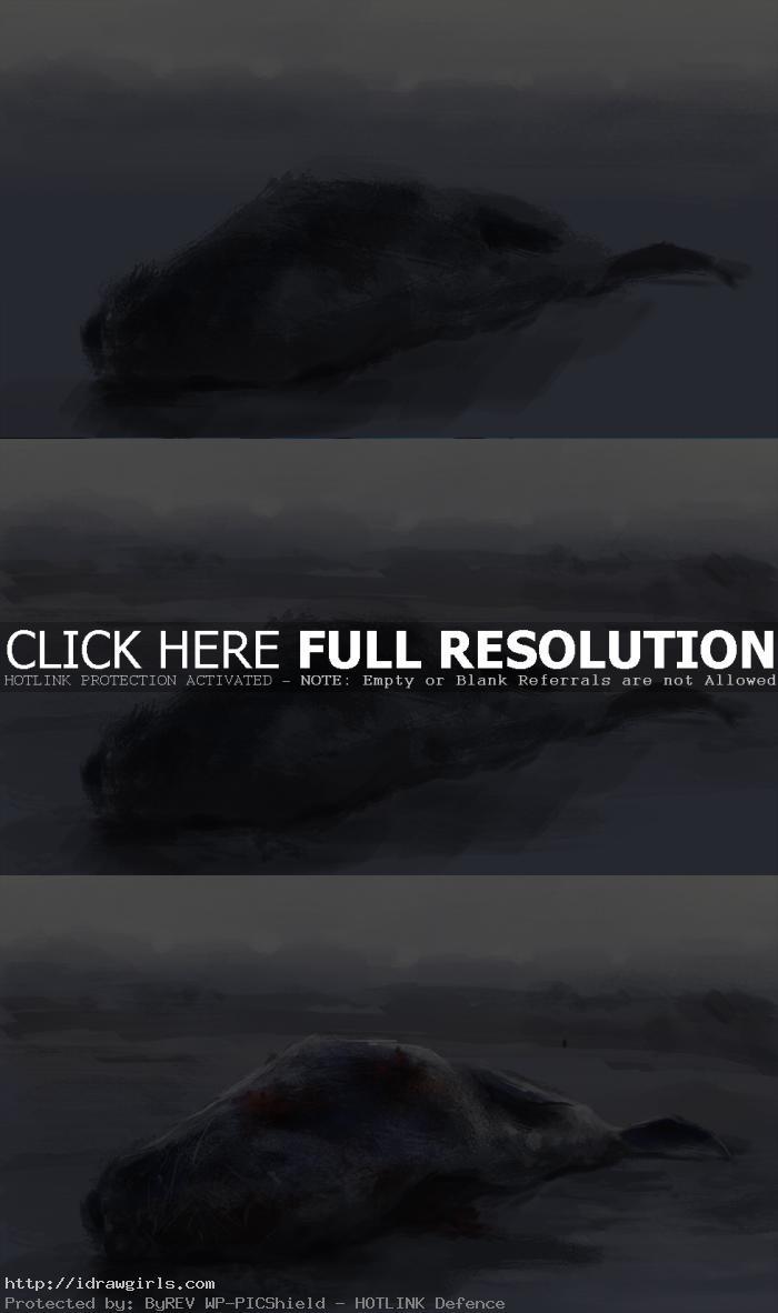 digital painting raven feast