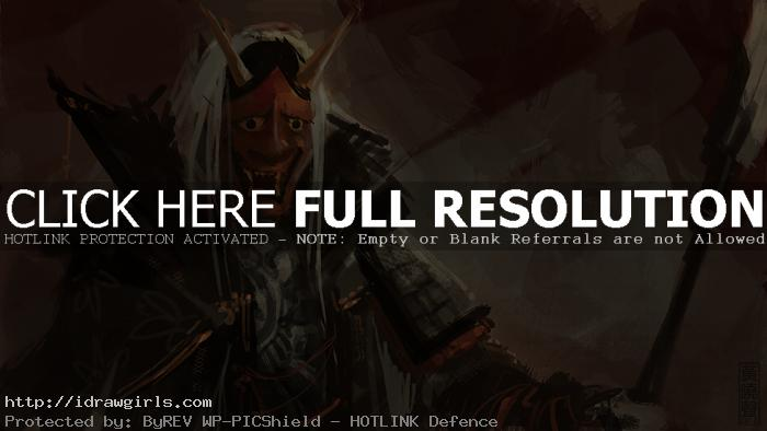 Kabuki warrior speed painting tutorial