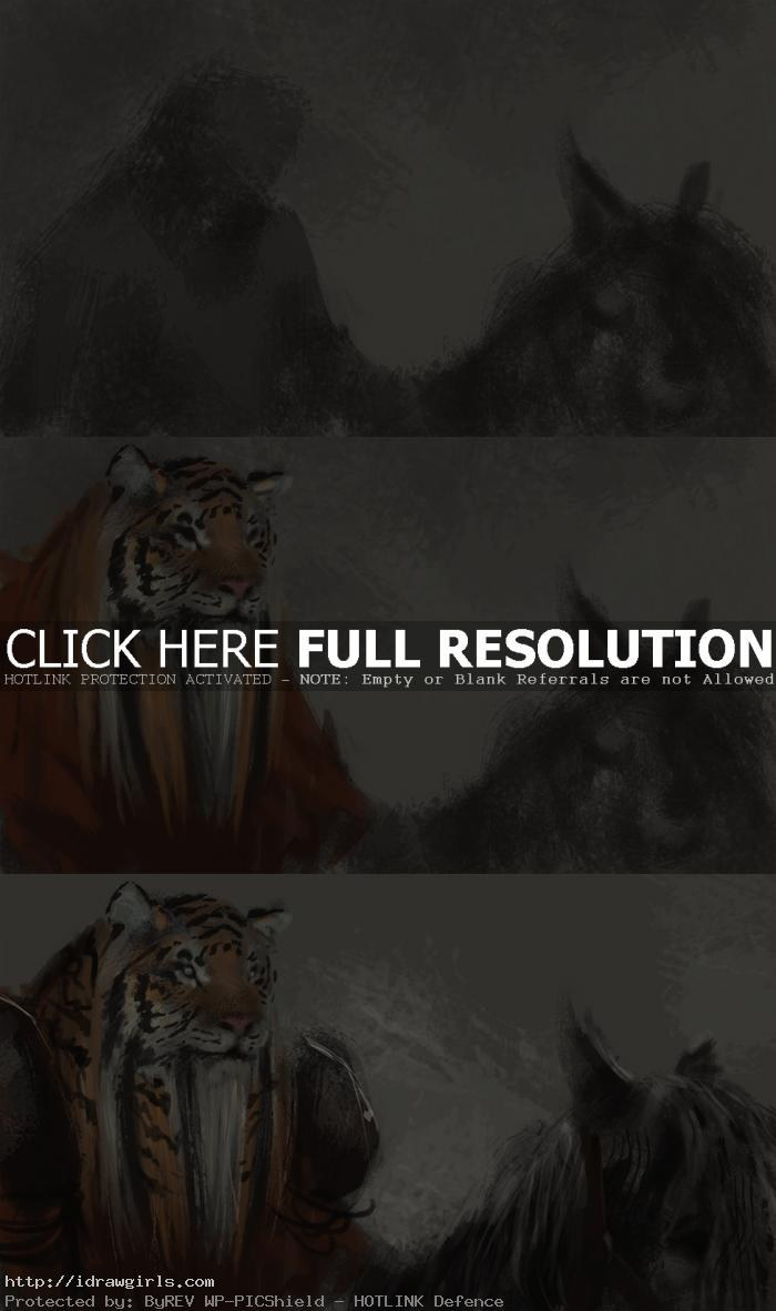 rakshasa warrior digital painting tutorial