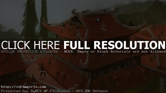 Rooftop ninjas digital painting tutorial