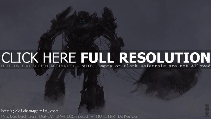 Salvage mech speed painting