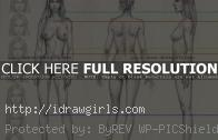 How to draw woman body basic