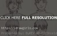 Draw Manga man hair 4 different ways
