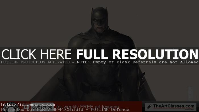 how to color Batman