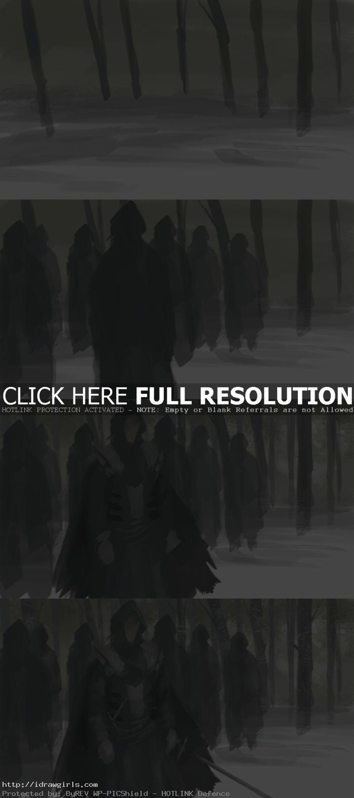 concept art tutorial black cloak mercenaries