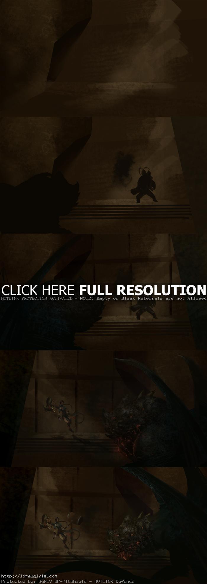 dragon tamer digital painting process